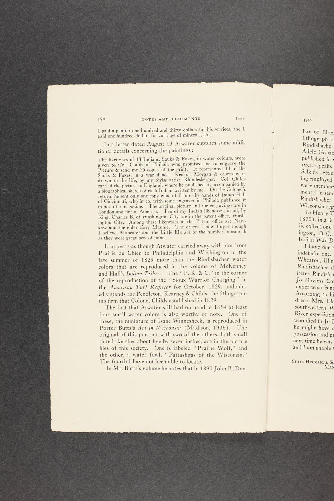 Robert Taft correspondence related to frontier artists, Rindesbacker - Schott - 12