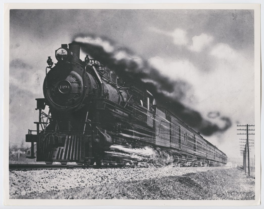 Atchison, Topeka & Santa Fe Railway Company's steam locomotive #1494 - 1
