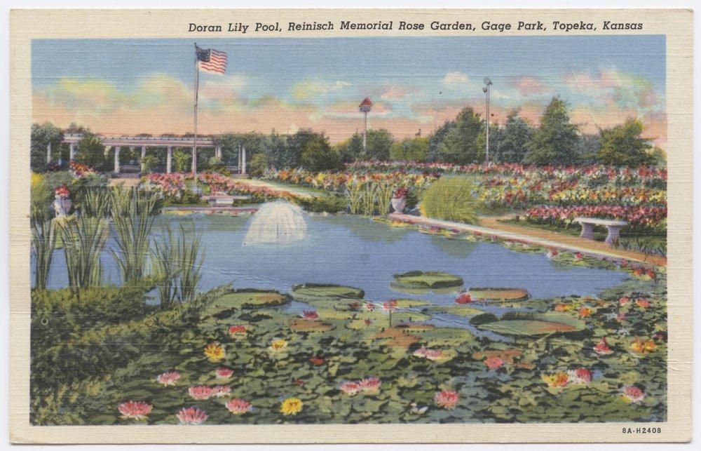 Doran lily pool at Gage Park in Topeka, Kansas - 1