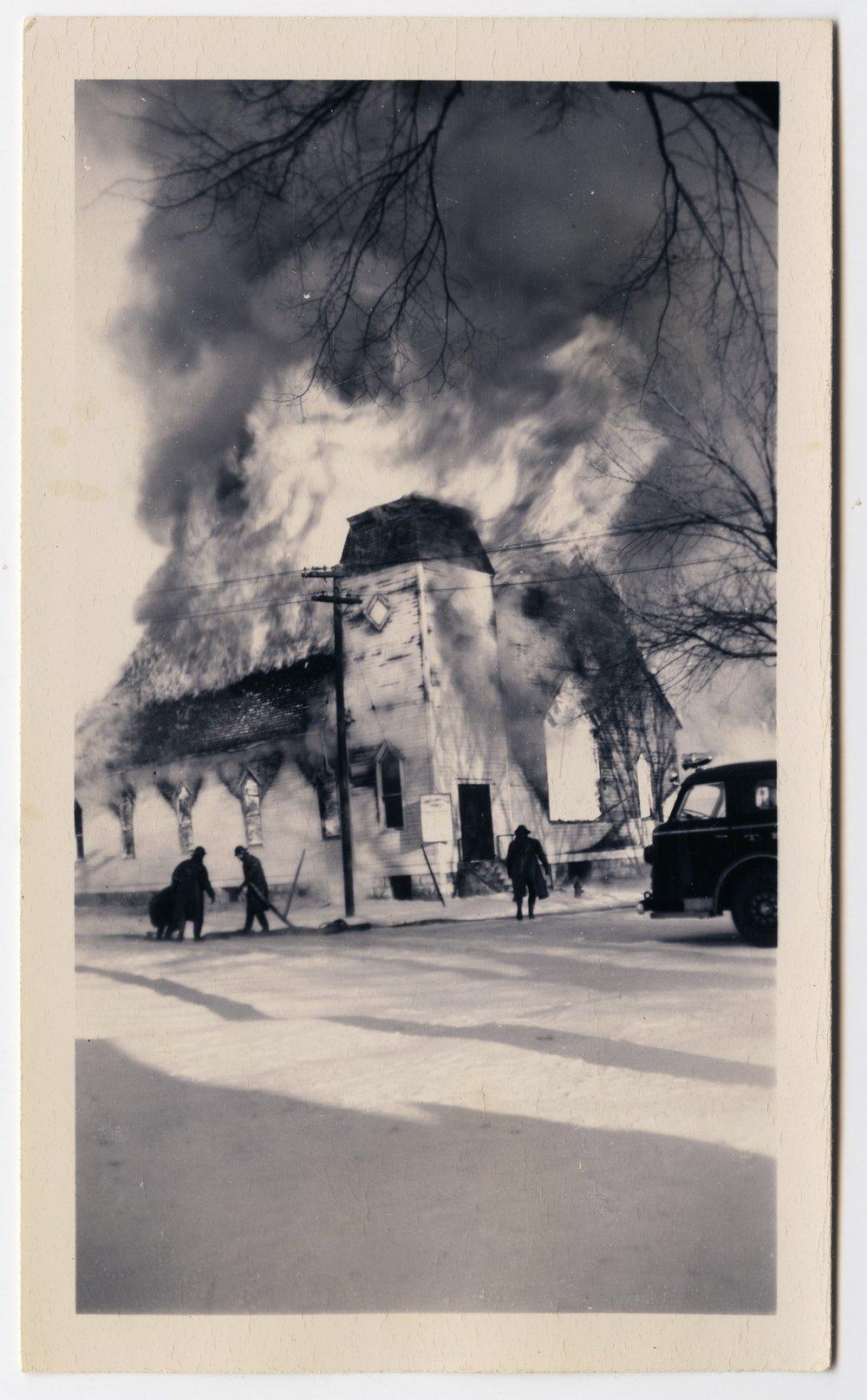 Fire at the Third Christian Church in Topeka, Kansas - 5
