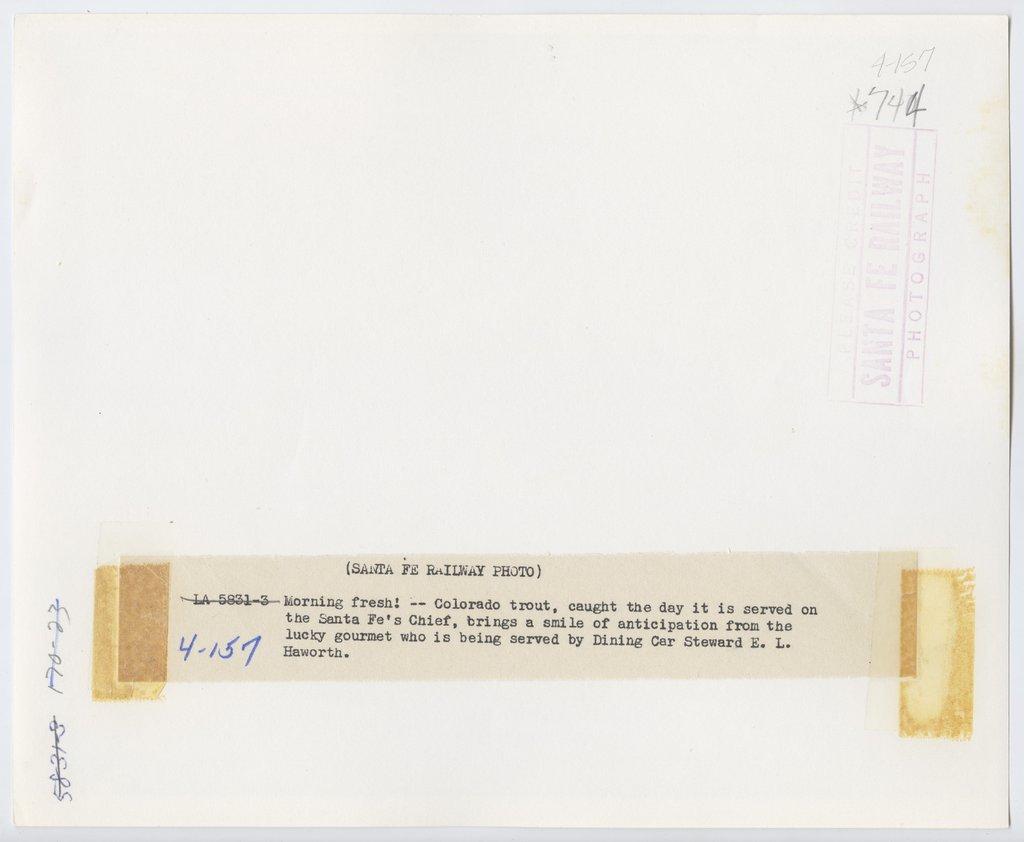 Atchison, Topeka & Santa Fe Railway Company's Super Chief - 2