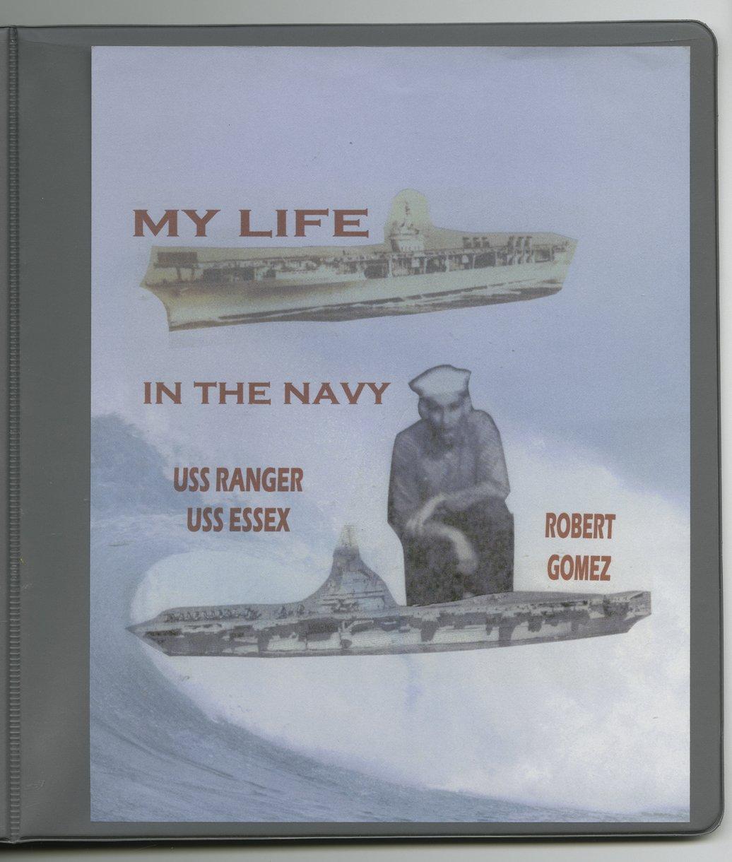 Robert Gomez military scrapbook - Front cover