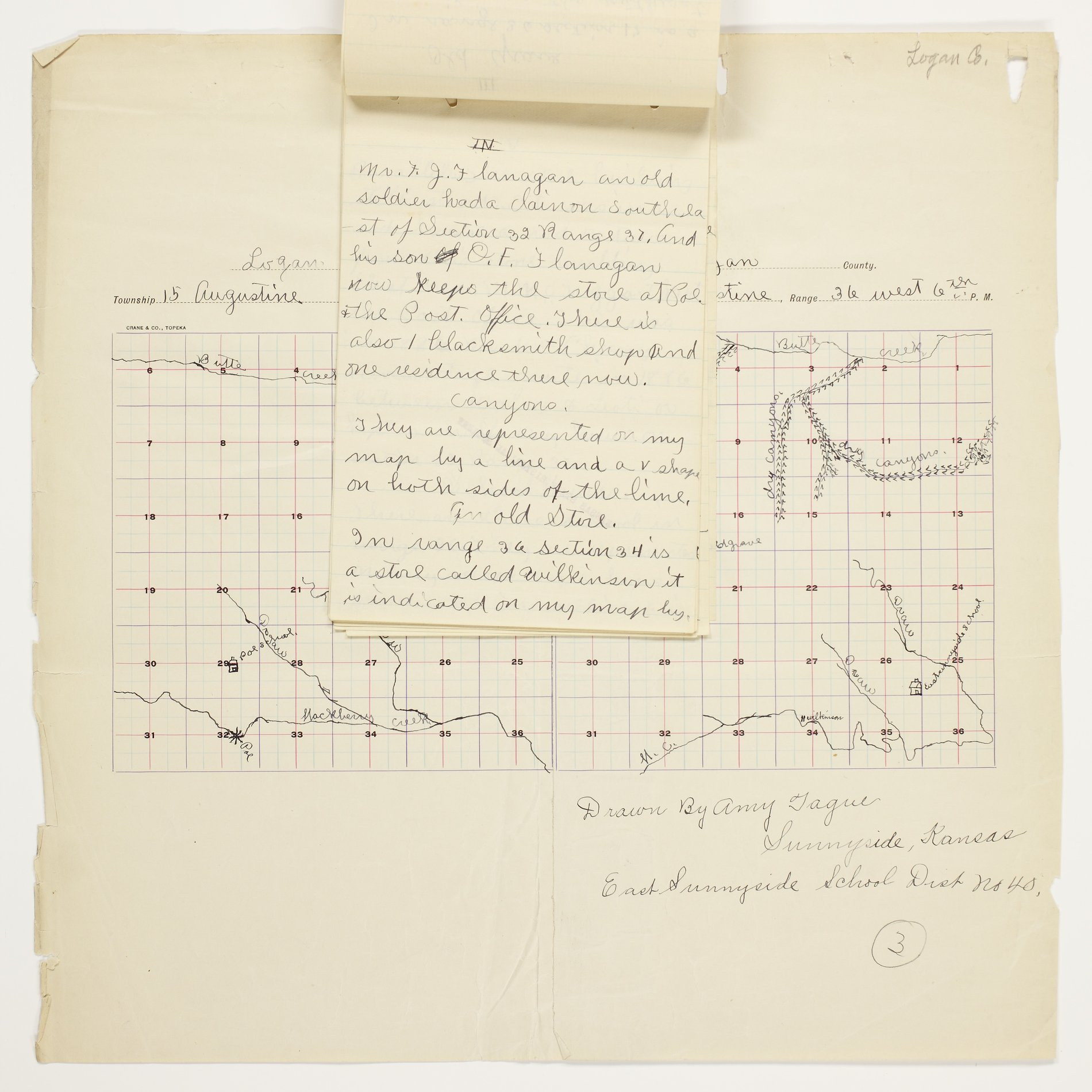 Amy O. Tague's map of Augustine Township, Logan County - 4