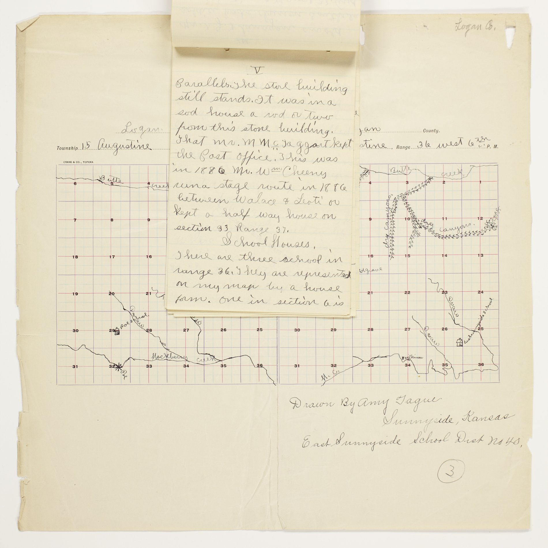 Amy O. Tague's map of Augustine Township, Logan County - 5