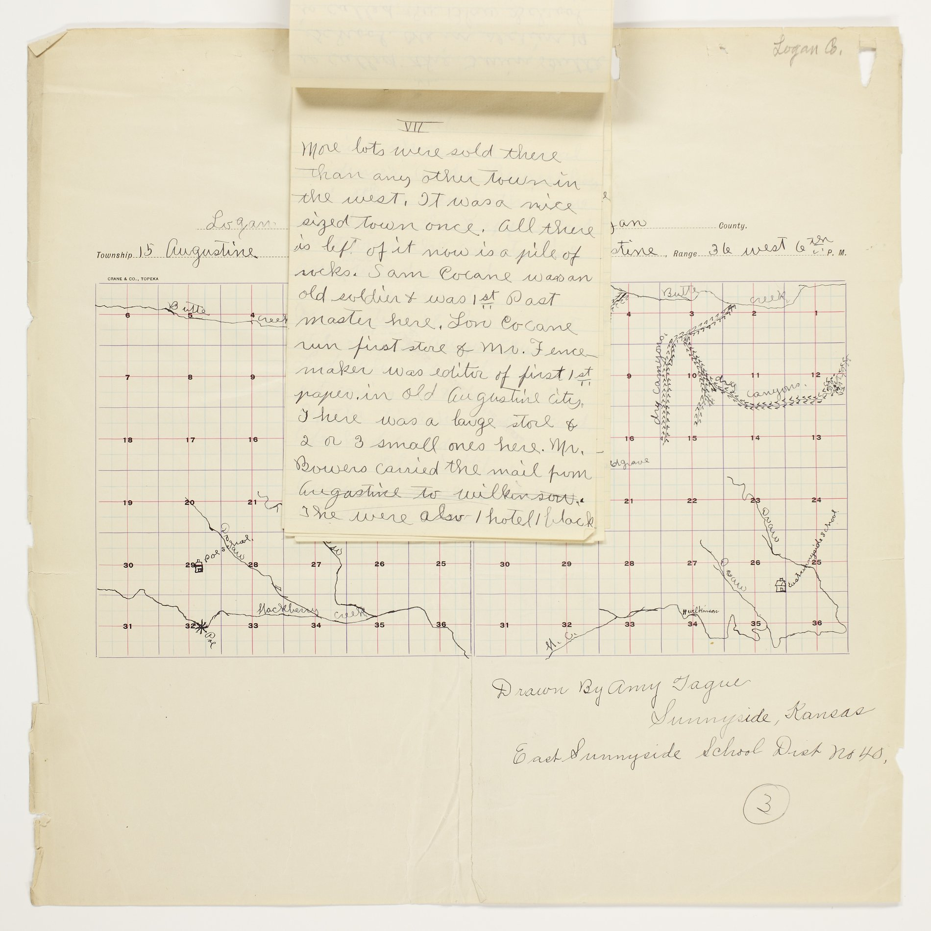 Amy O. Tague's map of Augustine Township, Logan County - 7