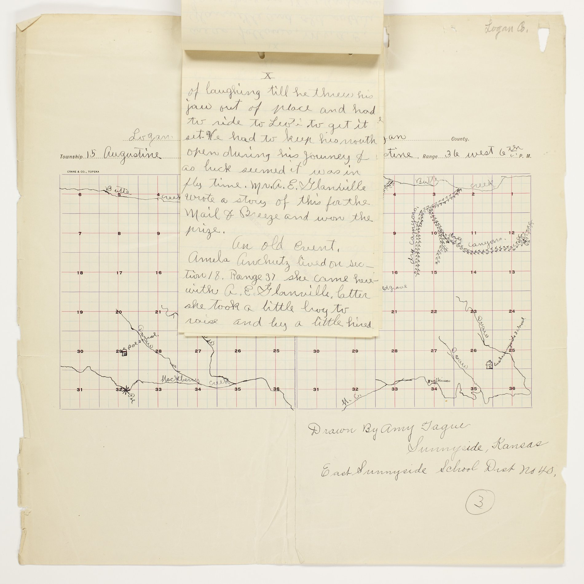 Amy O. Tague's map of Augustine Township, Logan County - 10