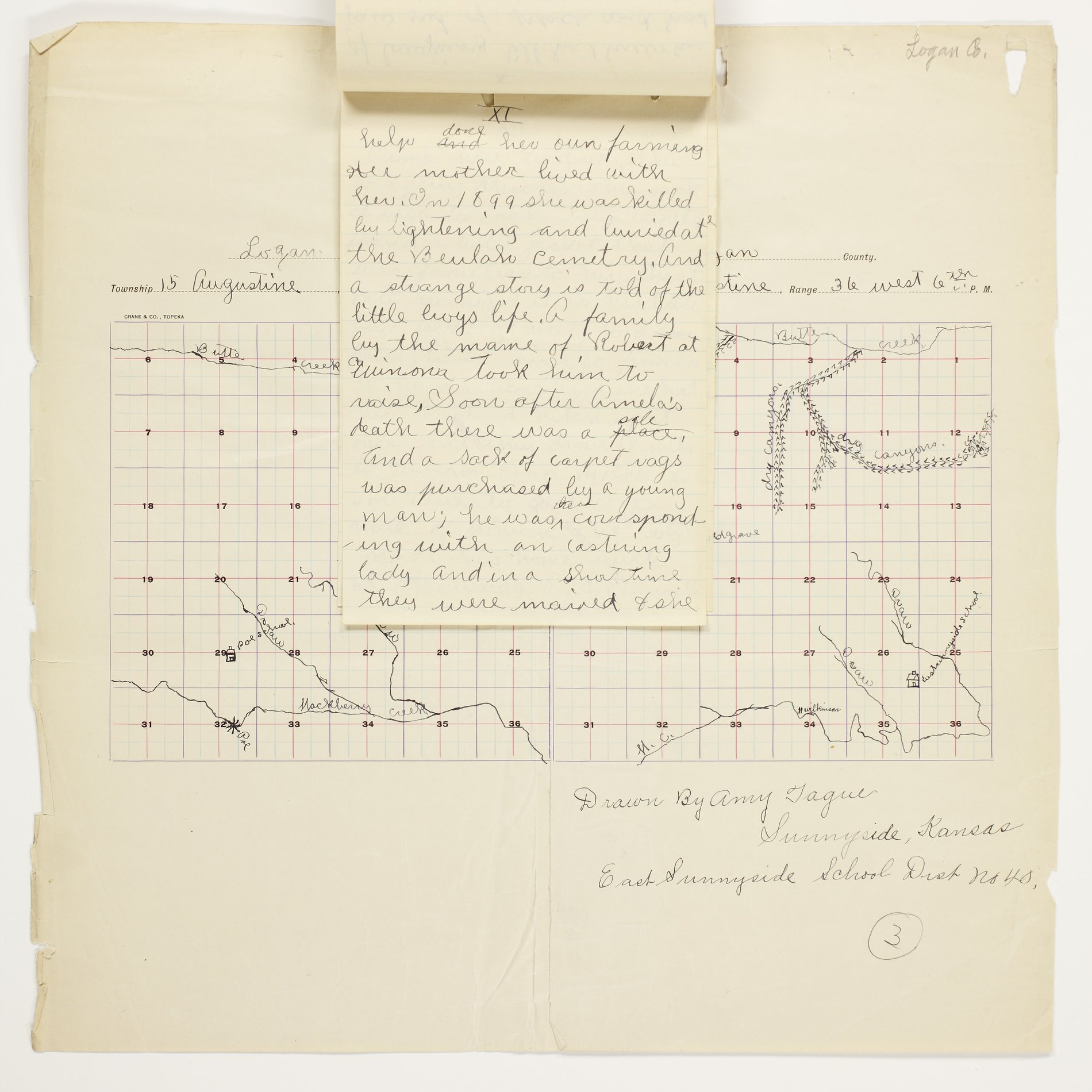 Amy O. Tague's map of Augustine Township, Logan County - 11