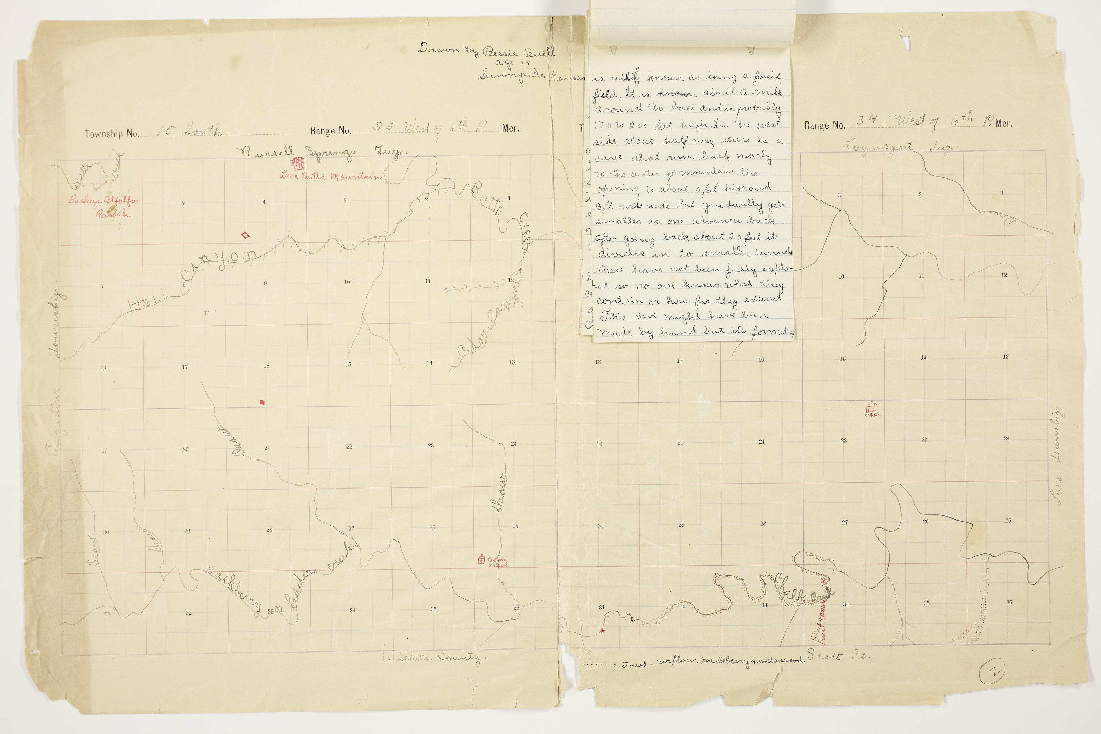 Bessie Buell's map of Paxton Township, Logan County - 6