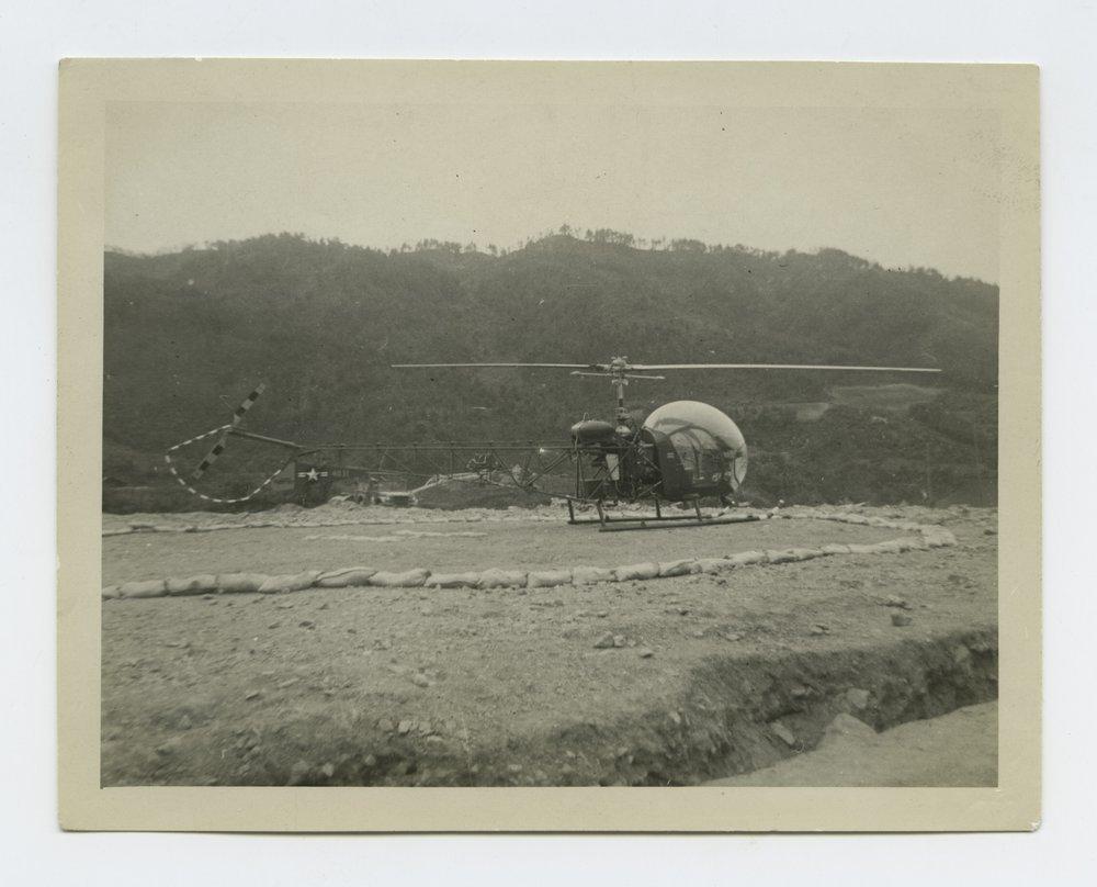 196th Field Artillery Battalion's helicoper pad in South Korea - 1