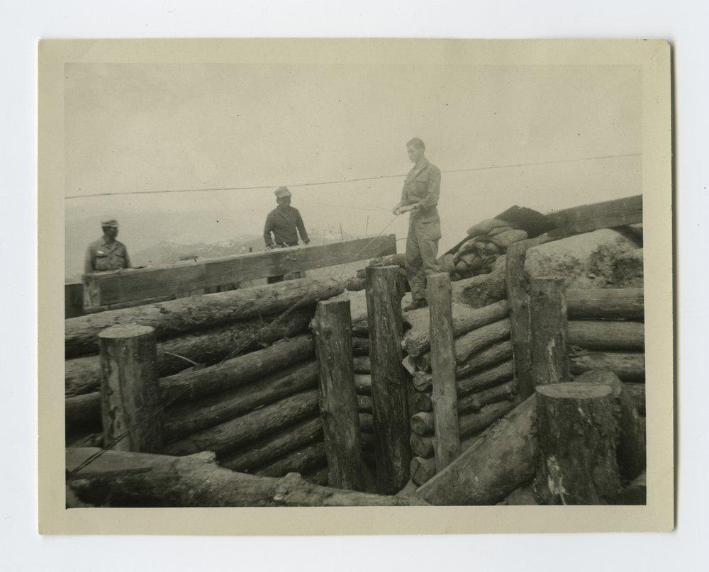 Front line artillery observation post bunker in South Korea