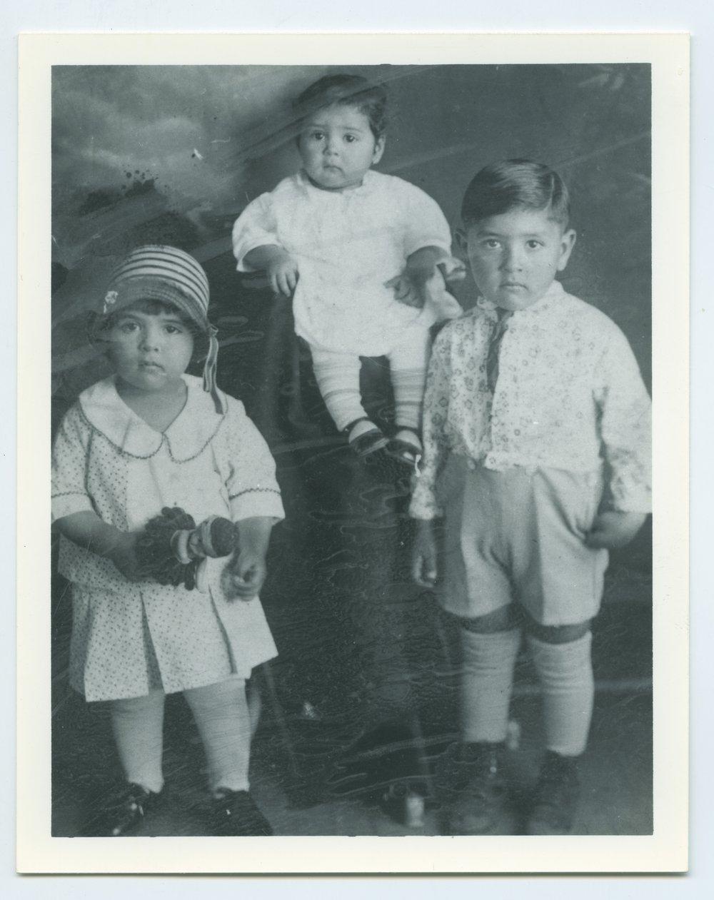 Vera Ramos, Beatrice Ramos, and Benny Ramos in Topeka, Kansas