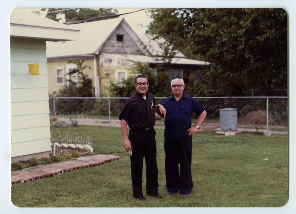 Augustinian priest at the Campos' home in Topeka, Kansas - 1