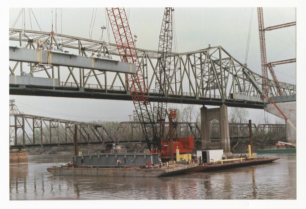 Construction on the Amelia Earhart Memorial bridge at Atchison, Kansas - 3