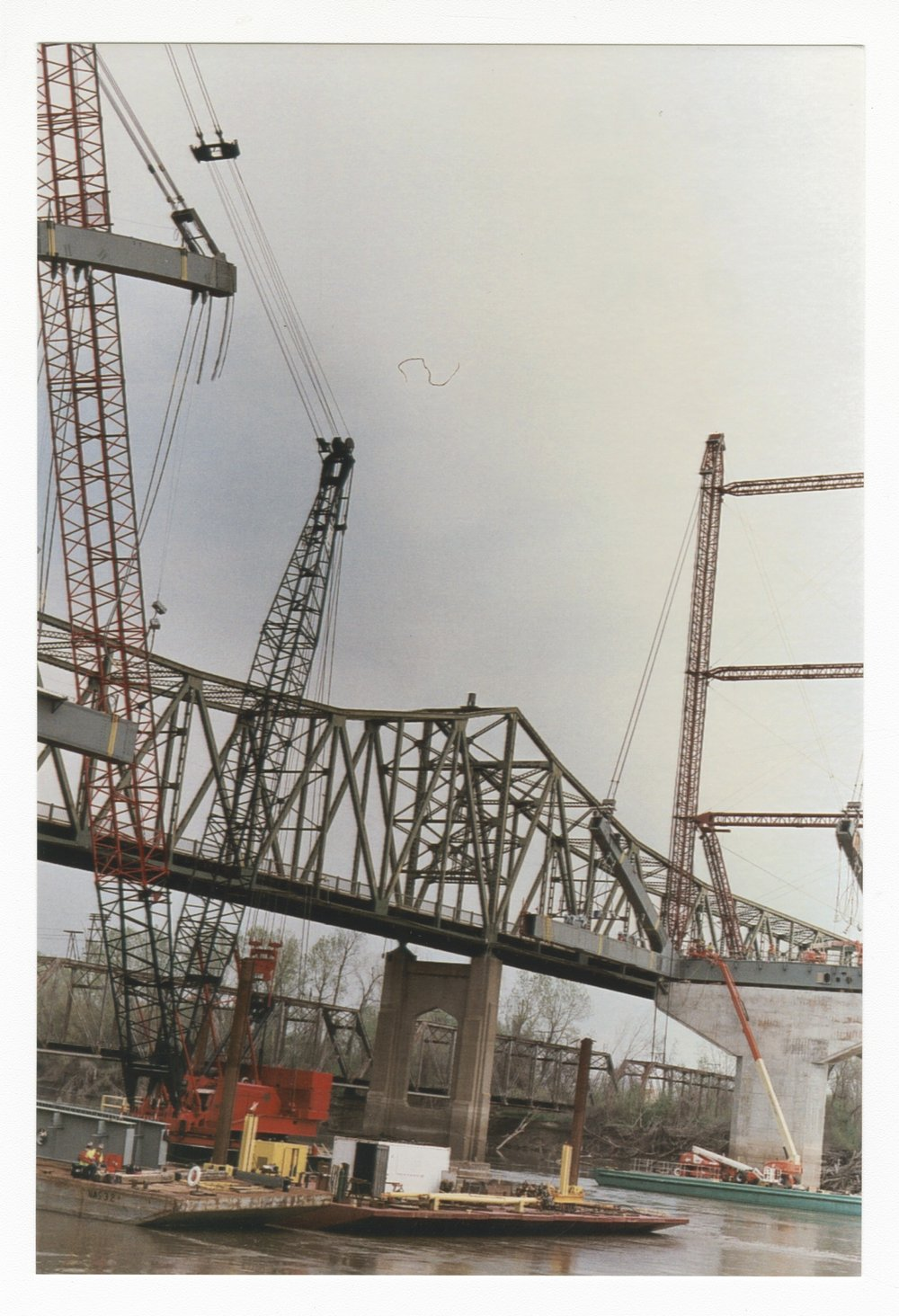 Construction on the Amelia Earhart Memorial bridge at Atchison, Kansas - 4