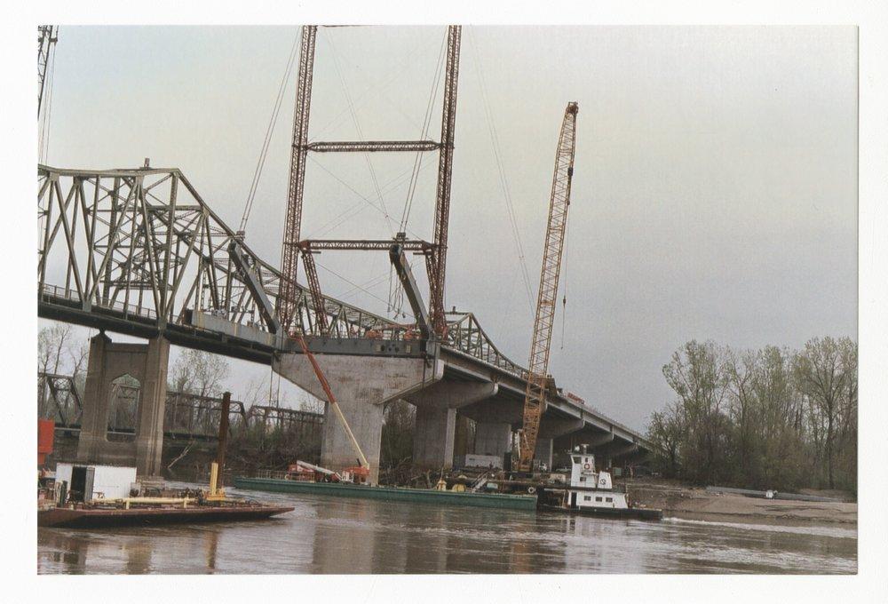 Construction on the Amelia Earhart Memorial bridge at Atchison, Kansas - 6