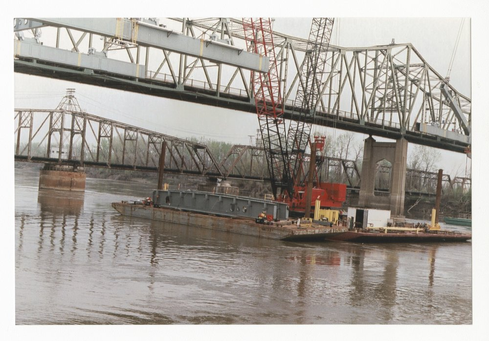 Construction on the Amelia Earhart Memorial bridge at Atchison, Kansas - 7