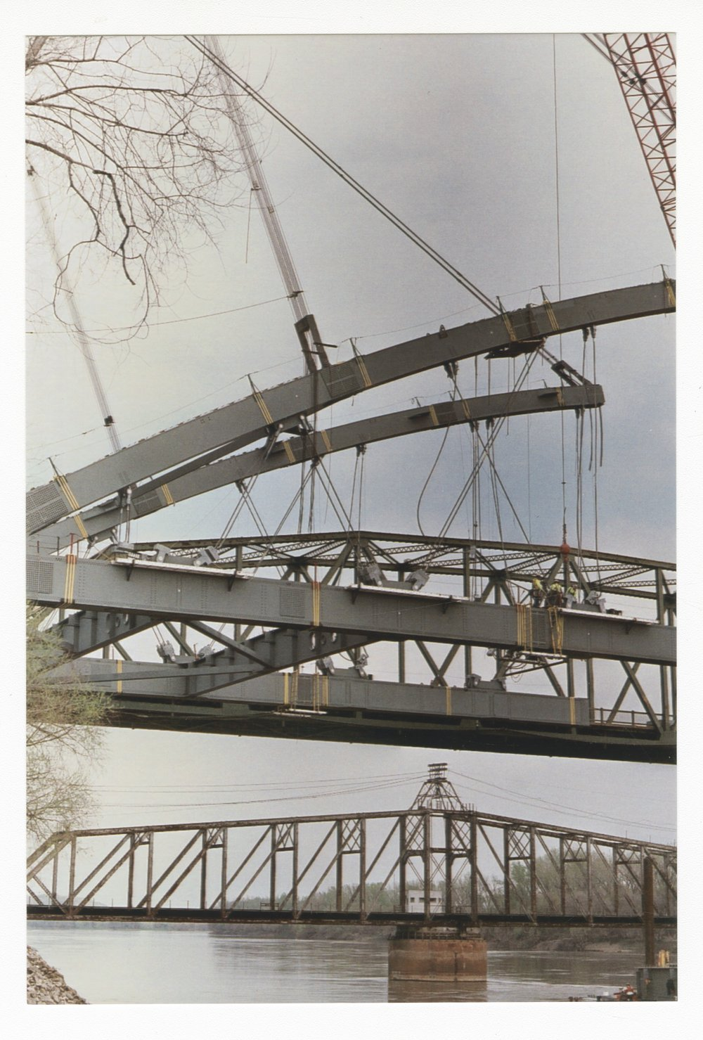 Construction on the Amelia Earhart Memorial bridge at Atchison, Kansas - 8