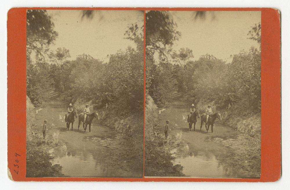 Views of Walnut Creek in Rush County, Kansas - 1