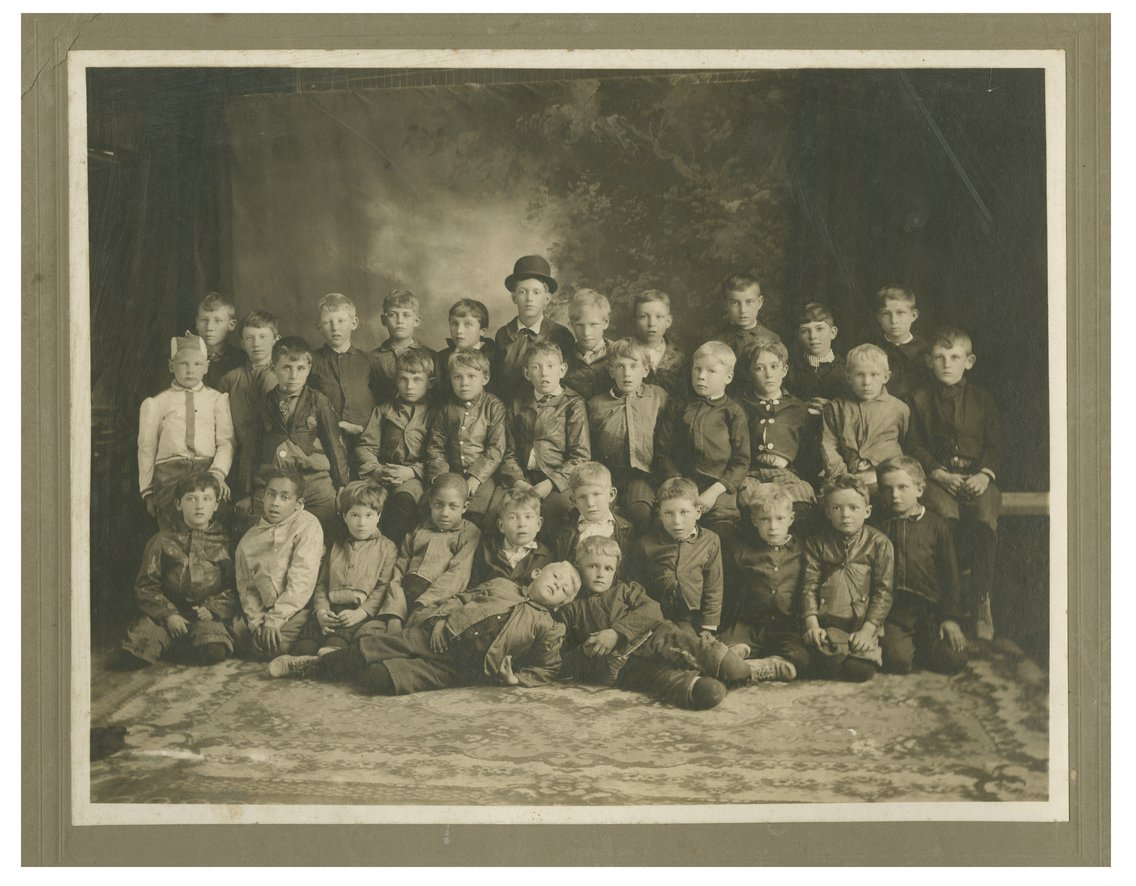 Group of boys possibly taken in Wakeeney, Kansas