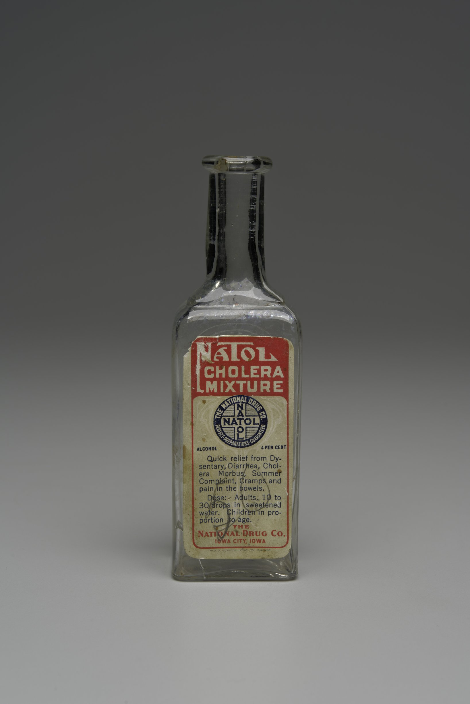 Natol Cholera Mixture Bottle from the Fort Dodge Grocery, 14FD315 - 1