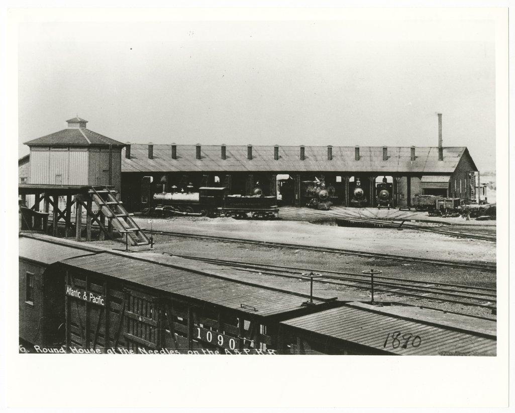 Atlantic & Pacific Railroad roundhouse, Needles, California