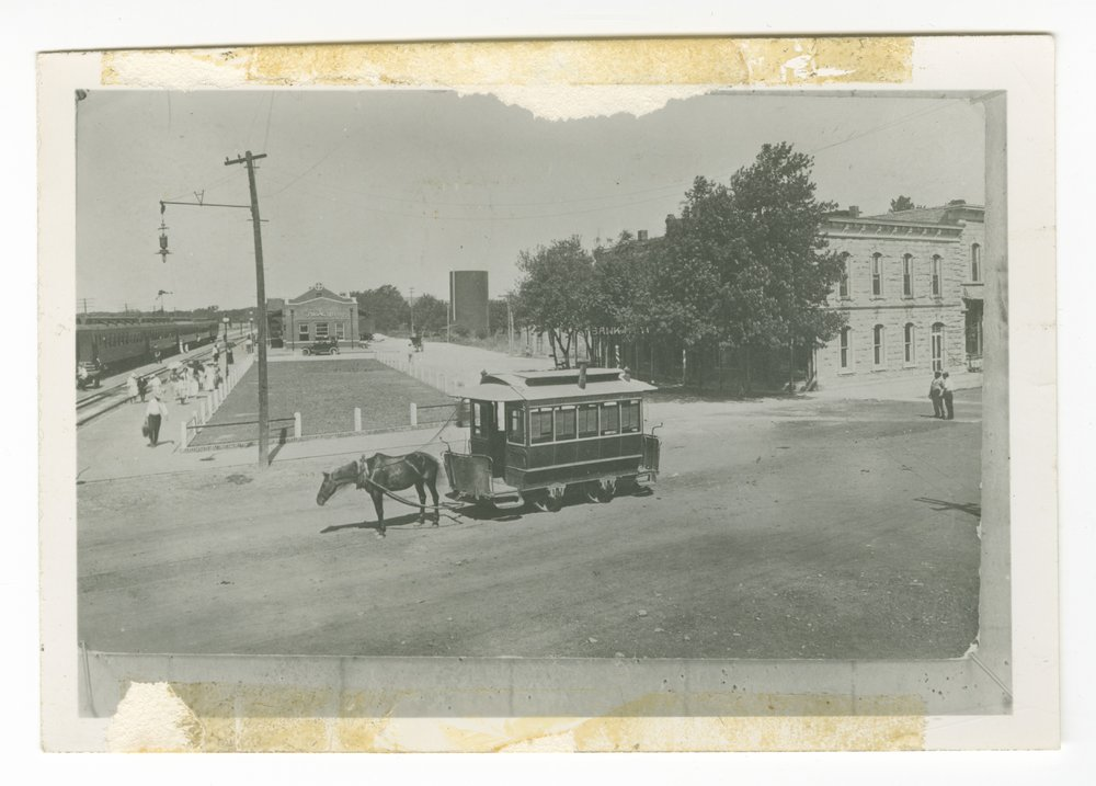 Atchison, Topeka and Santa Fe Railway Company depot, Strong City, Kansas - 1