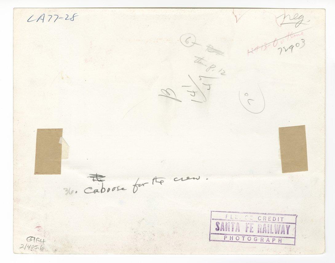 Atchison, Topeka & Santa Fe Railway Company's caboose No. 1951 - 2