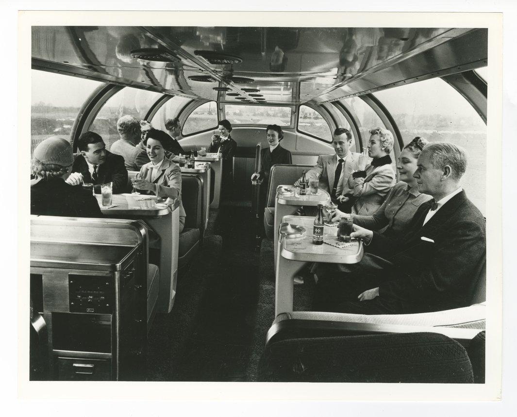 Atchison, Topeka and Santa Fe Railway Company's dome car - 1
