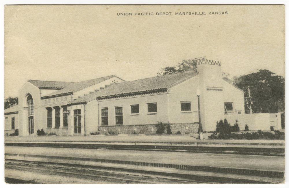 Union Pacific Railroad Company depot, Marysville, Kansas - 1