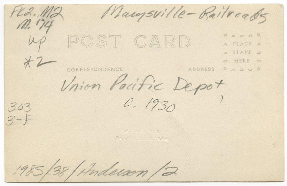 Union Pacific Railroad Company depot, Marysville, Kansas - 4