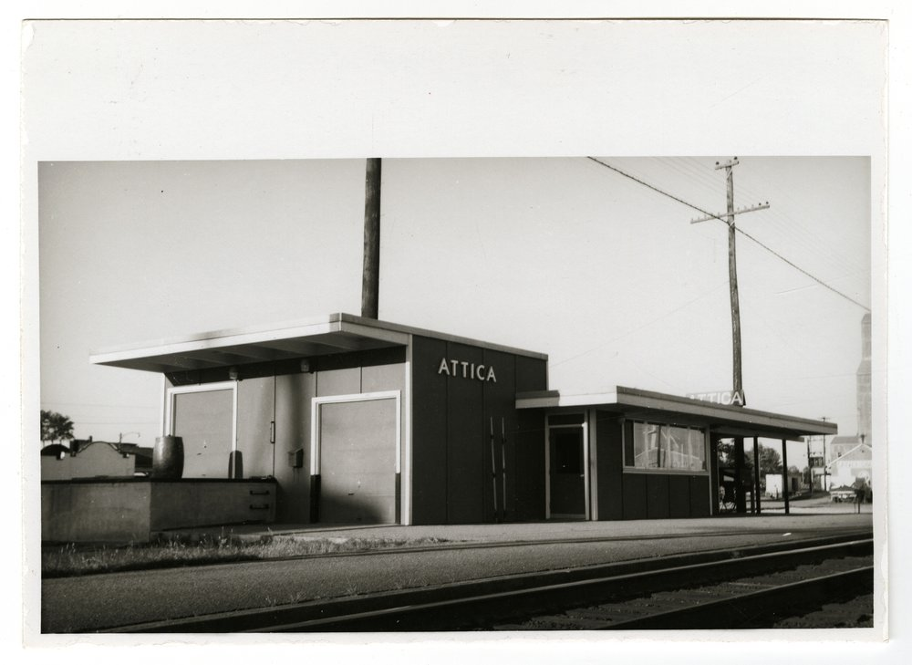 Atchison, Topeka and Santa Fe Railway Company depot, Attica, Kansas - 1
