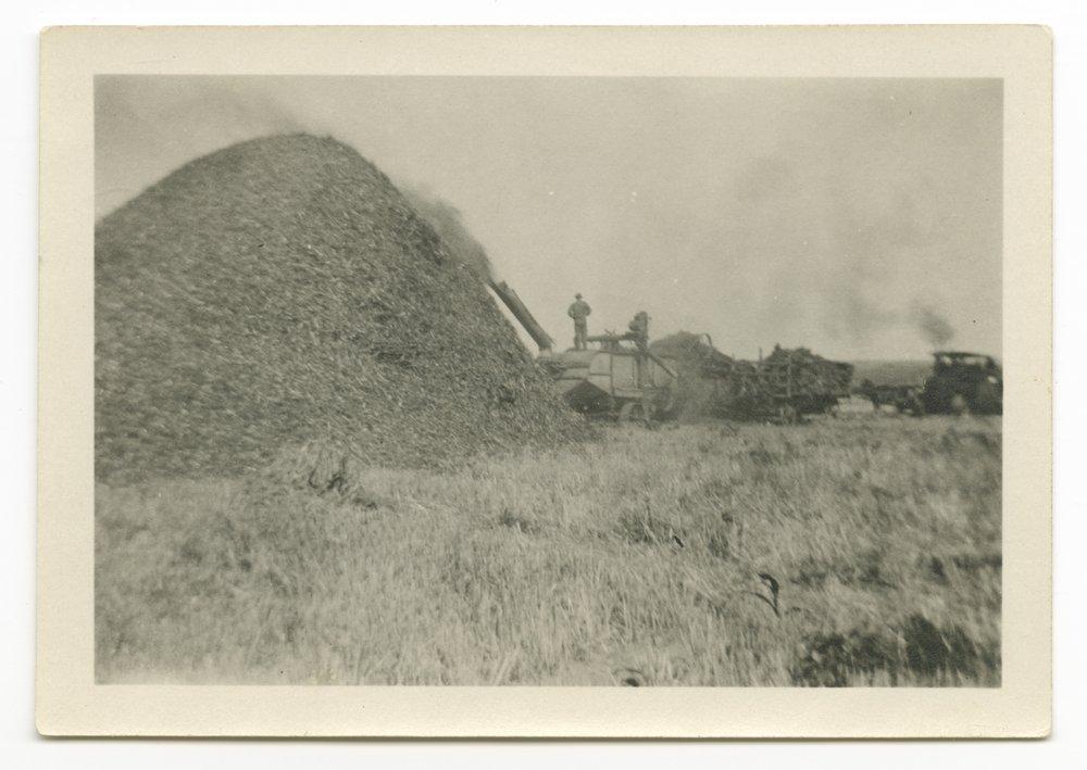Harvest scenes possibly taken in Shawnee County, Kansas - 2