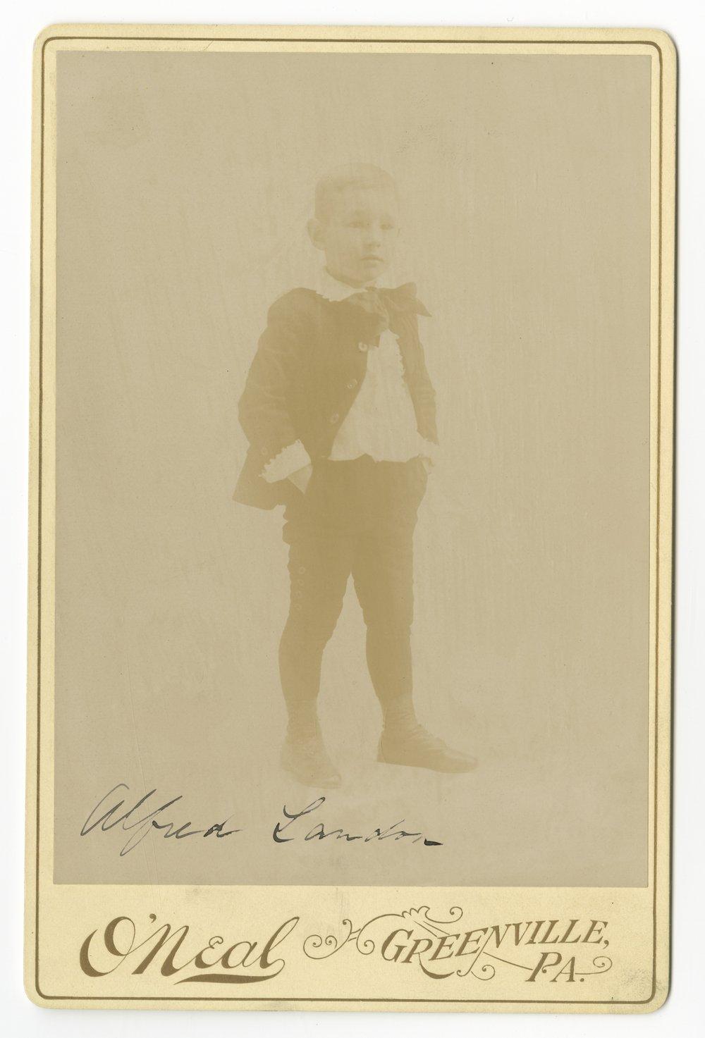 Alfred Mossman Landon at age six