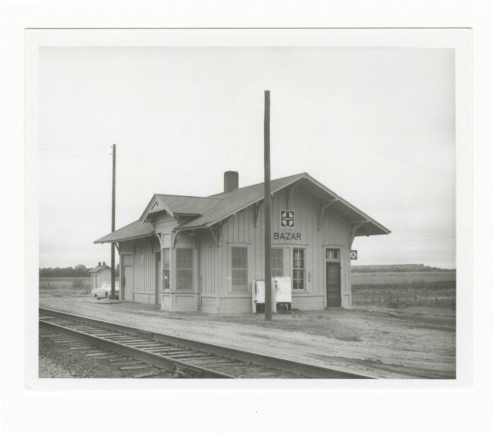 Atchison, Topeka and Santa Fe Railway Company depot, Bazaar, Kansas - 1