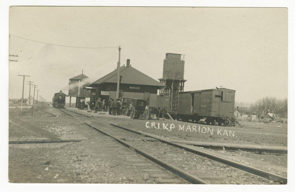 Chicago, Rock Island & Pacific Railroad depot, Marion, Kansas - 1