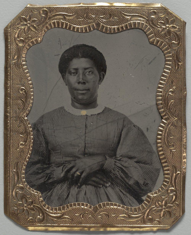 African American woman tintype - 1