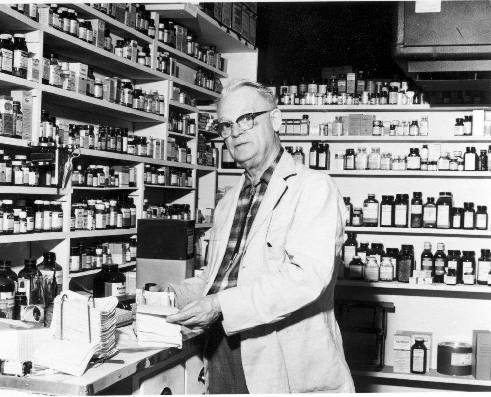 Preston Dunn drug store in Eskridge, Kansas - 3