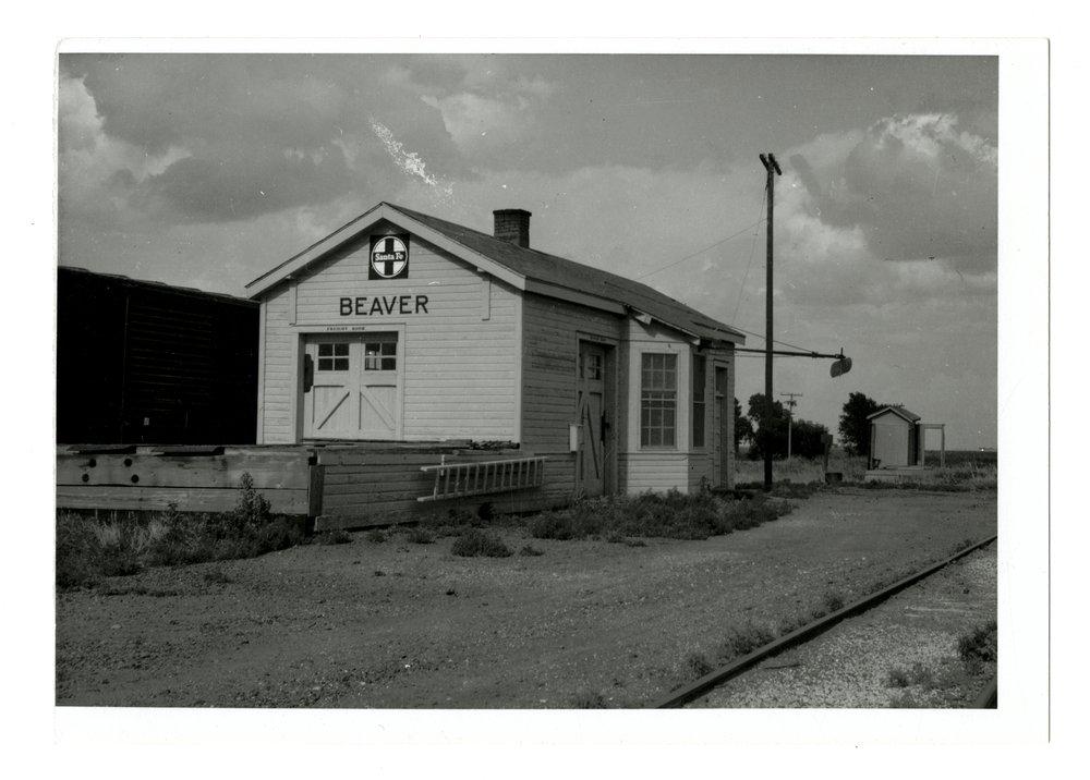Atchison, Topeka and Santa Fe Railway Company depot, Beaver, Kansas - 1
