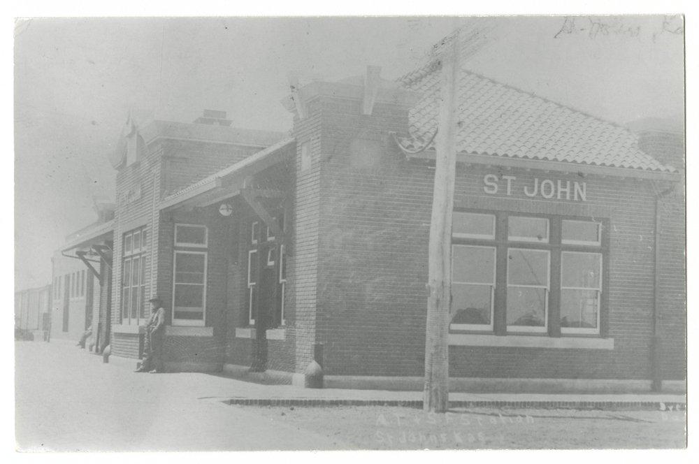 Atchison, Topeka and Santa Fe Railway Company depot, St. John, Kansas - 1
