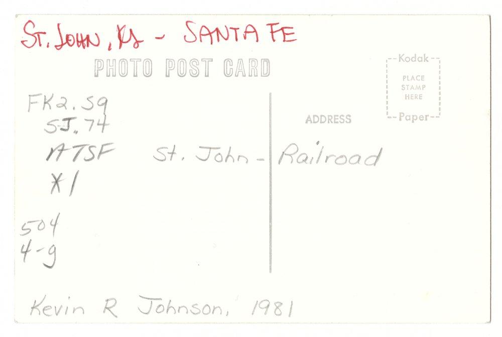 Atchison, Topeka and Santa Fe Railway Company depot, St. John, Kansas - 2