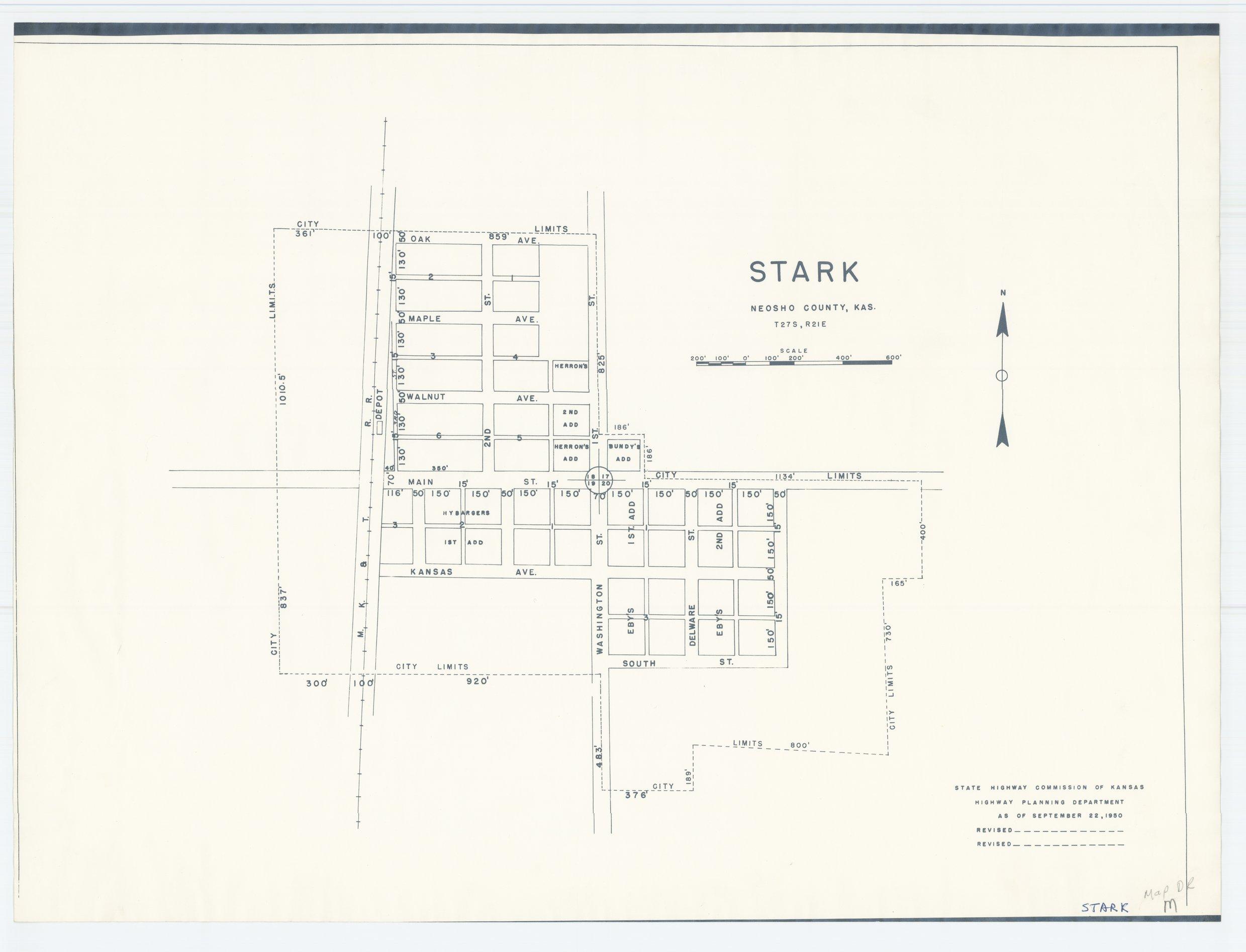 Kansas neosho county stark - Map Of Stark