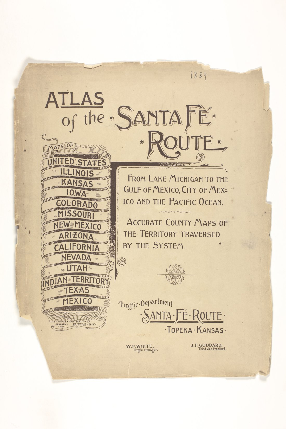 Atlas of the Santa Fe Route - 1889 edition - Title page