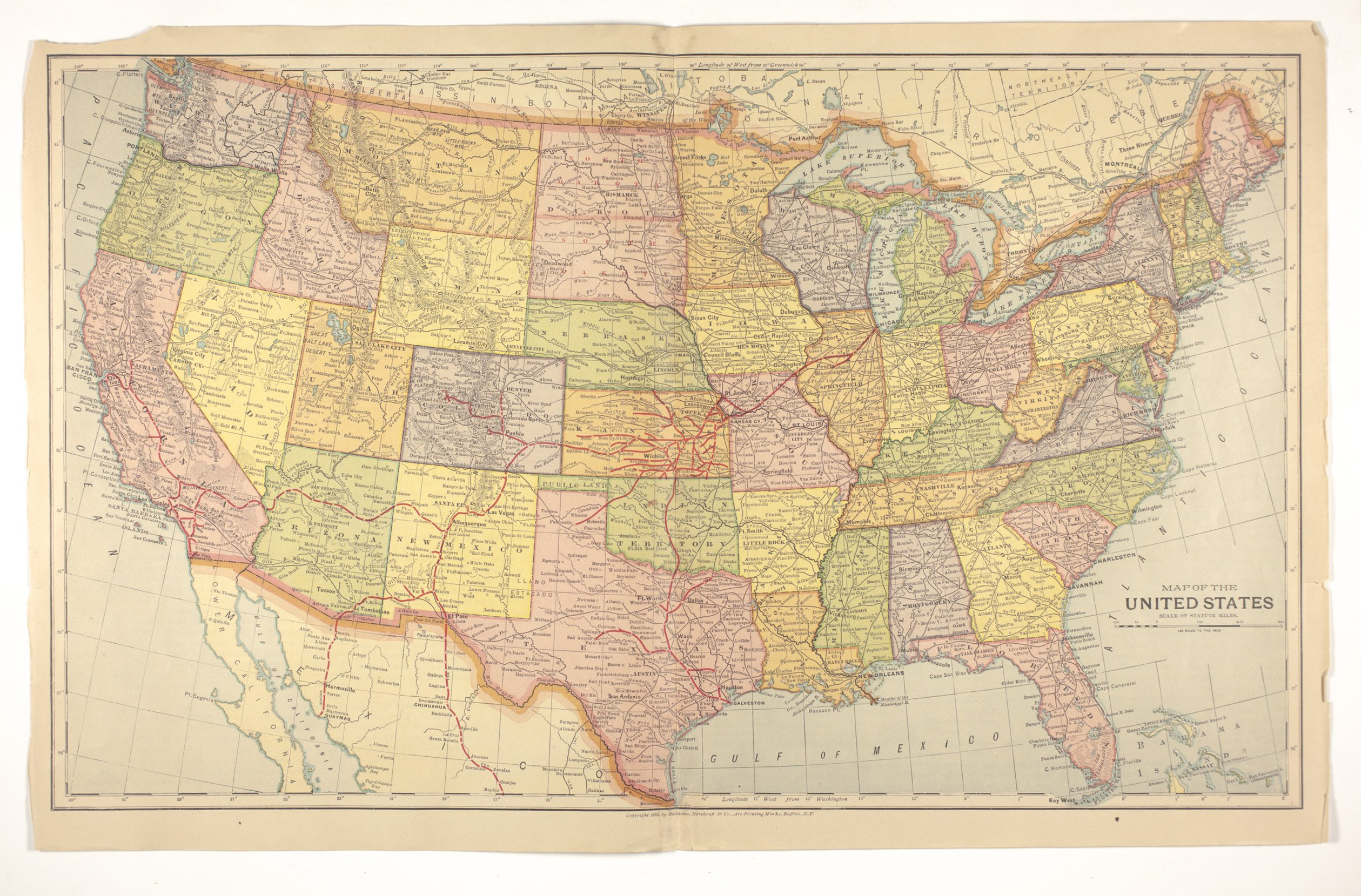 Atlas of the Santa Fe Route - Map of United States
