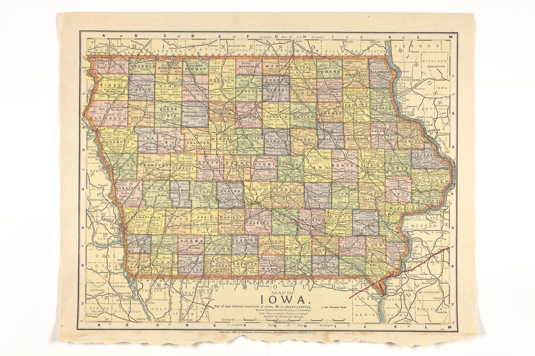 Atlas of the Santa Fe Route - Map of Iowa