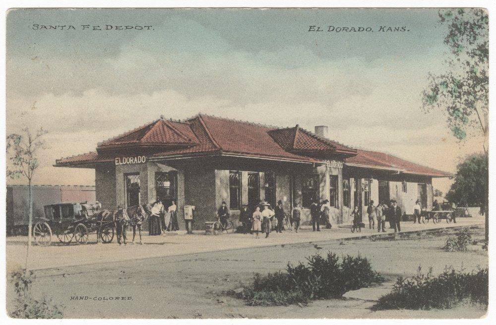 Atchison, Topeka and Santa Fe Railway Company depot, El Dorado, Kansas - 1