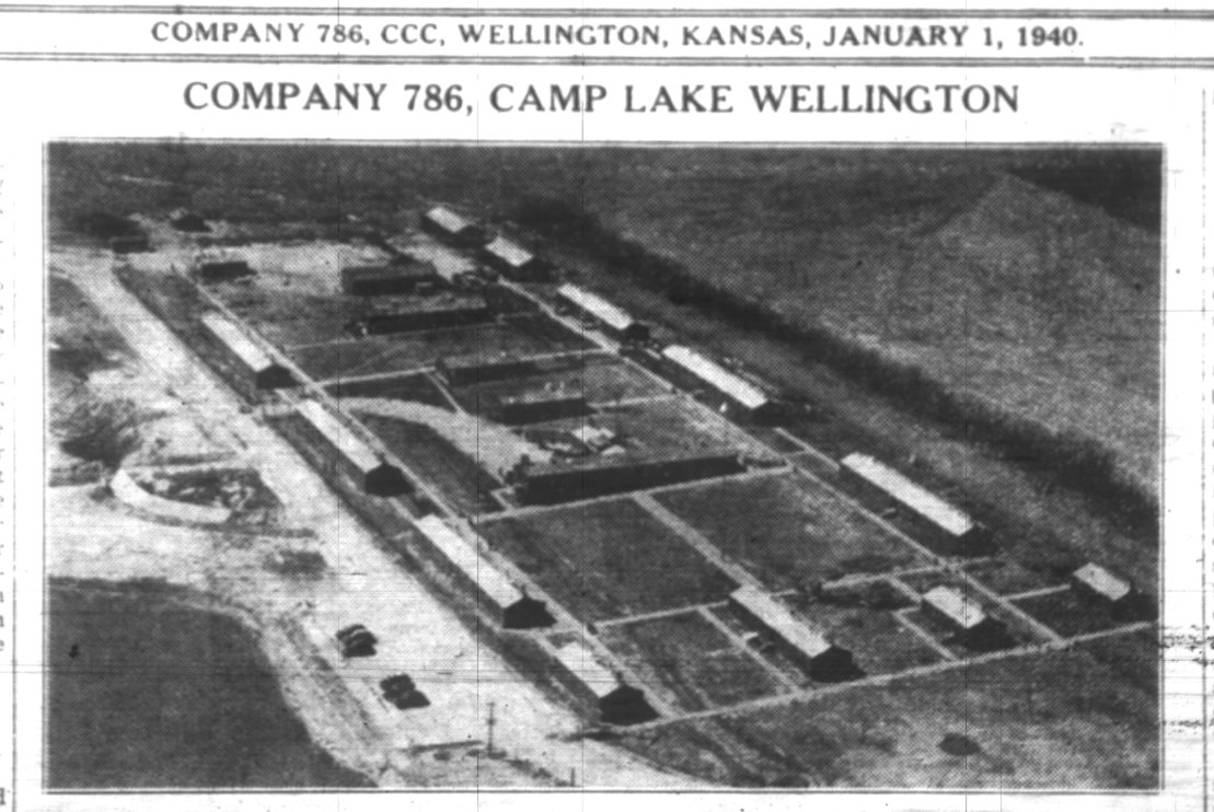 Civilian Conservation Corps at Camp Lake Wellington near Wellington, Kansas