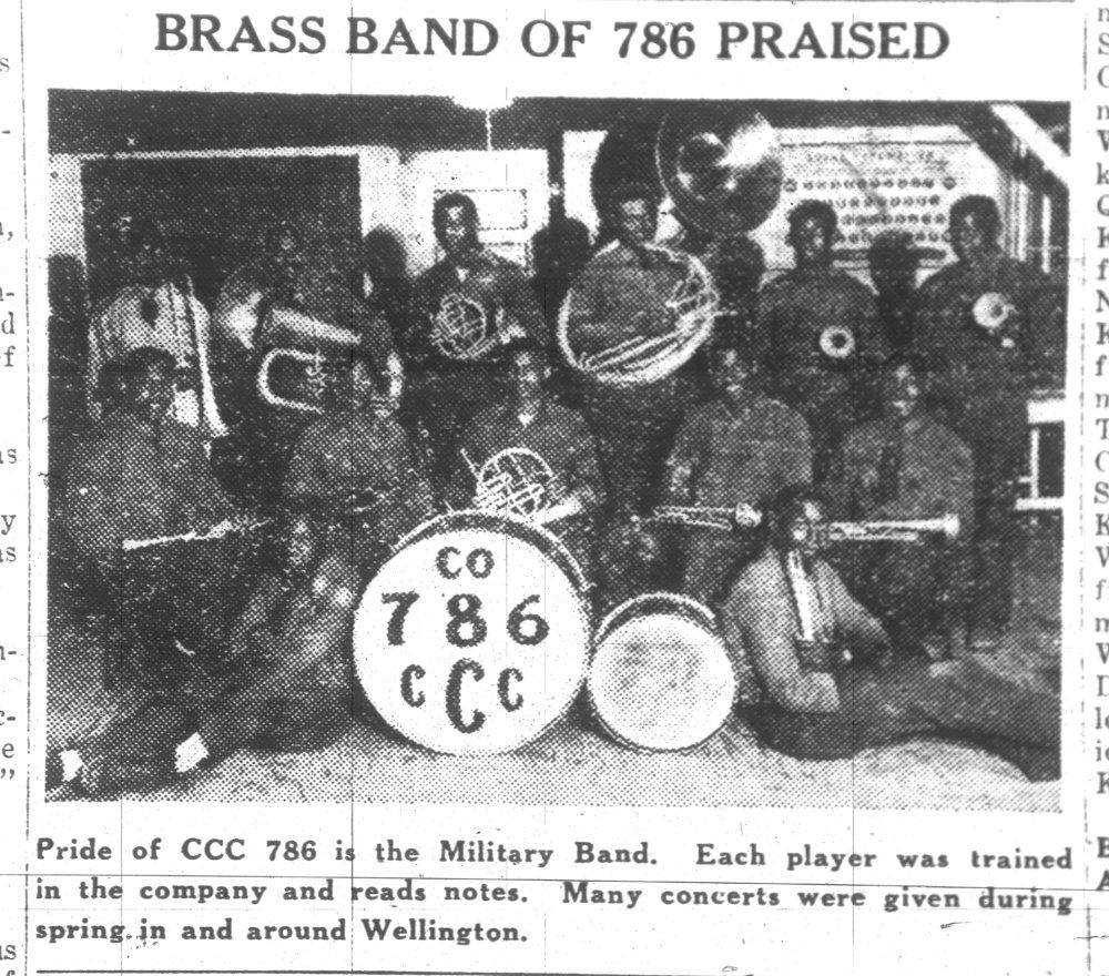 Brass Band, Camp Lake Wellington Civilian Conservation Corps