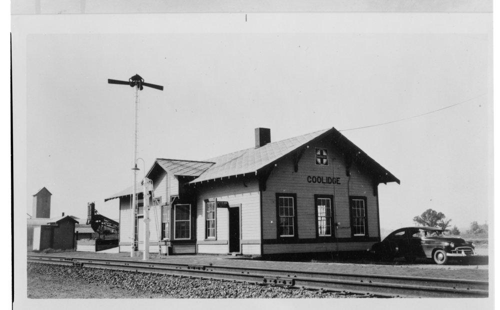 Atchison, Topeka and Santa Fe Railway Company depot, Coolidge, Kansas