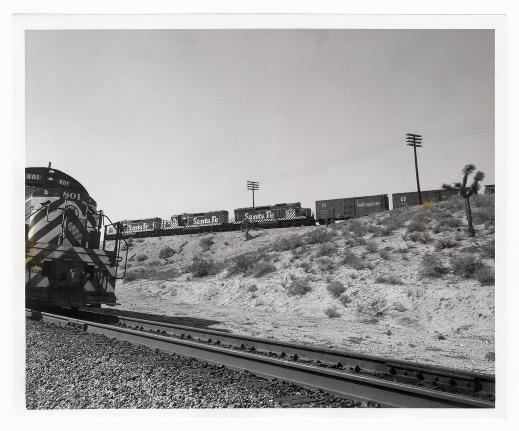 Atchison, Topeka and Santa Fe Railway Company's switch engines, Victorville, California - 1