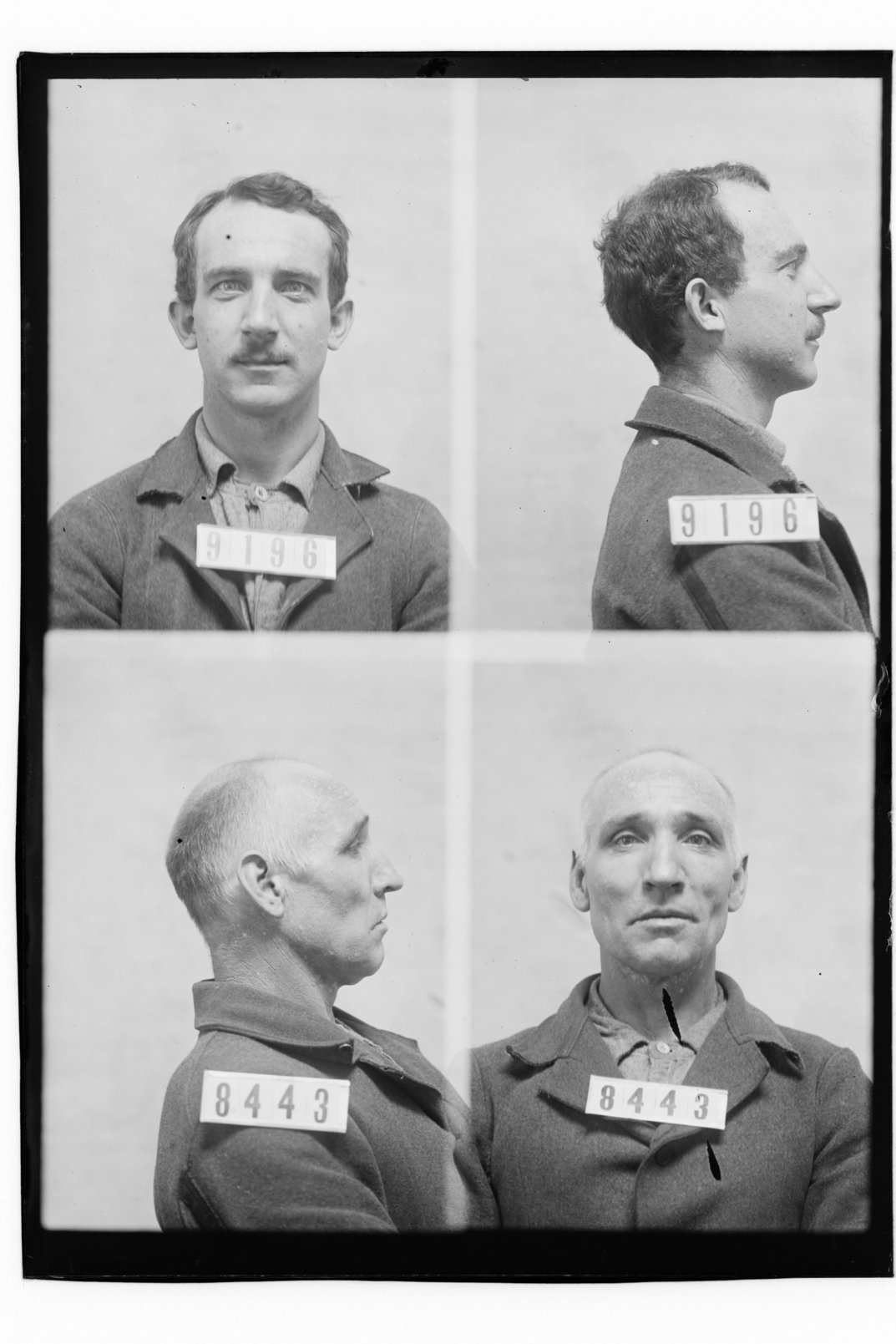 Aaron Zadik and Daul Mans, prisoners 9196 and 8443